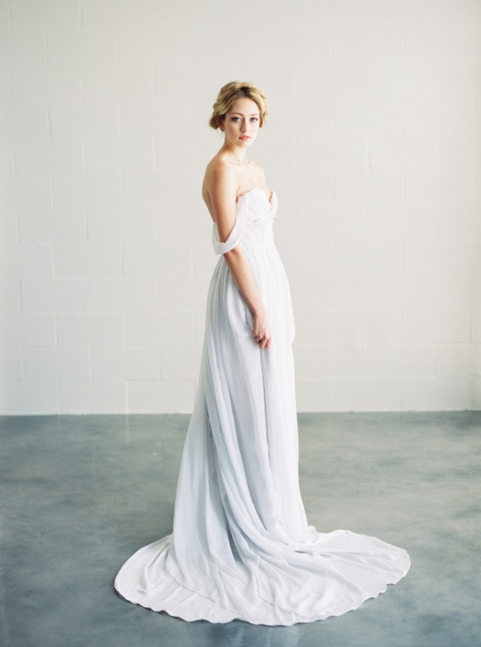 Ivy off the shoulder wedding dress