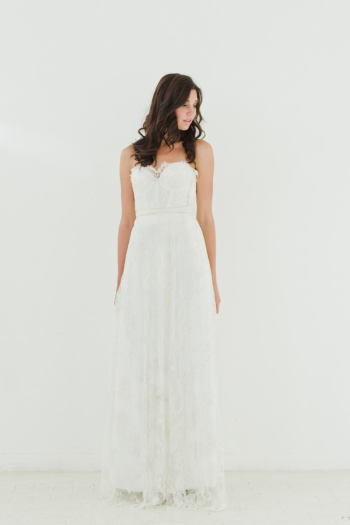 Minetta Gown Sarah Seven Wedding Dresses 2015