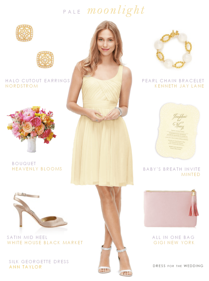 Pale Yellow Bridesmaid Dress