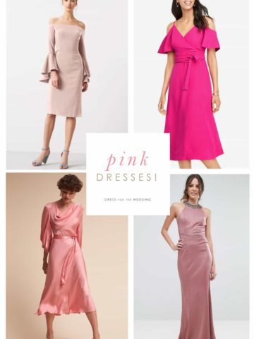 Pink Dresses for Wedding Guests