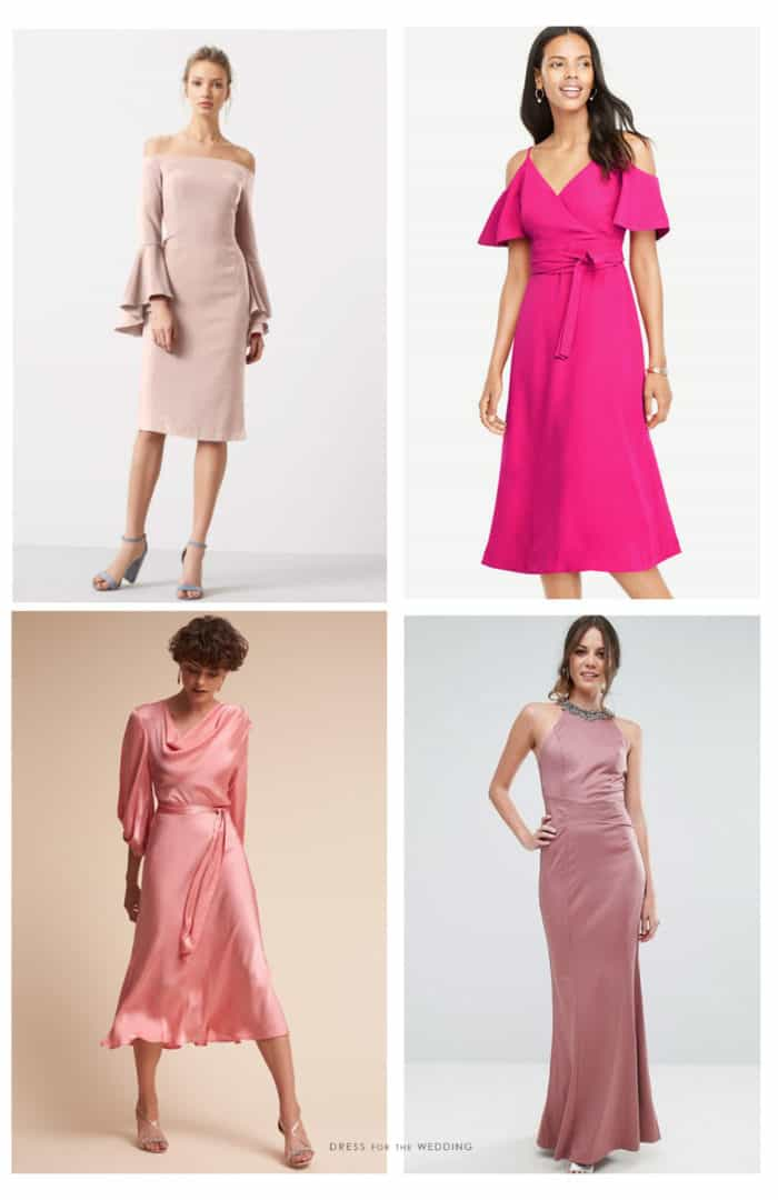 Pink dresses for a wedding