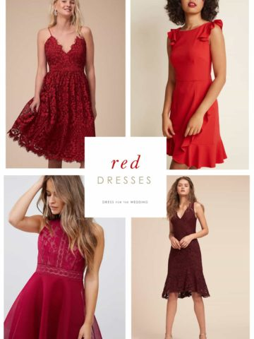 Red Dresses for Weddings and Parties