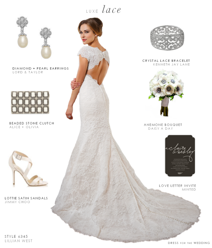 lace keyhole back wedding gown