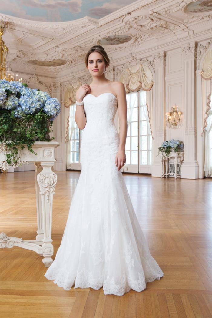 Style 6365 strapless lace wedding dress