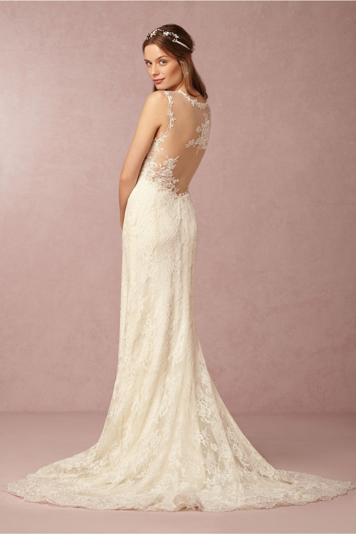 Illusion Back Wedding Dress from BHLDN
