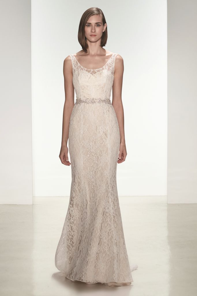 Modern lace wedding dress Cassia by nouvelle Amsale