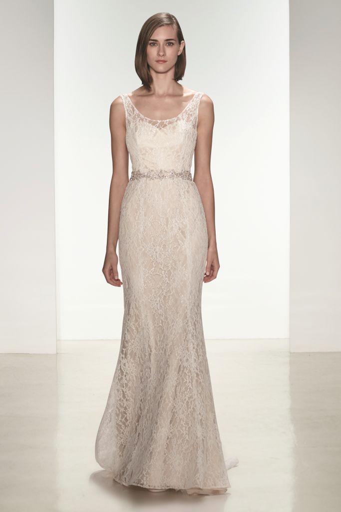 Modern lace wedding dress Cassia by nouvelle Amsale