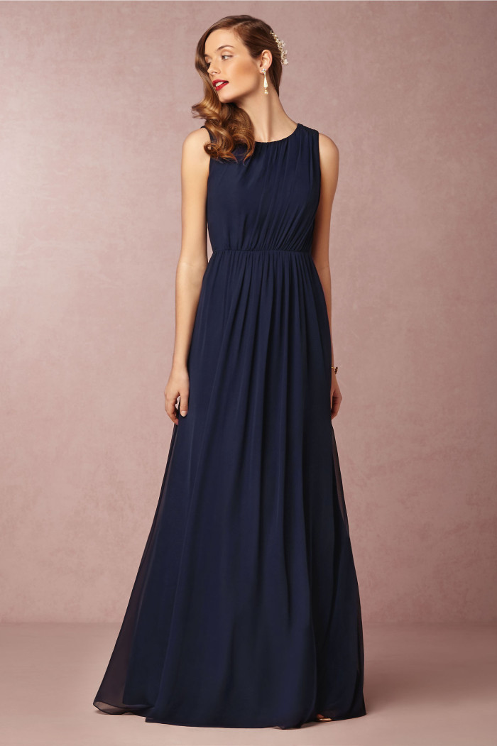New wedding dresses for 2015 from bhldn for Navy dresses for weddings
