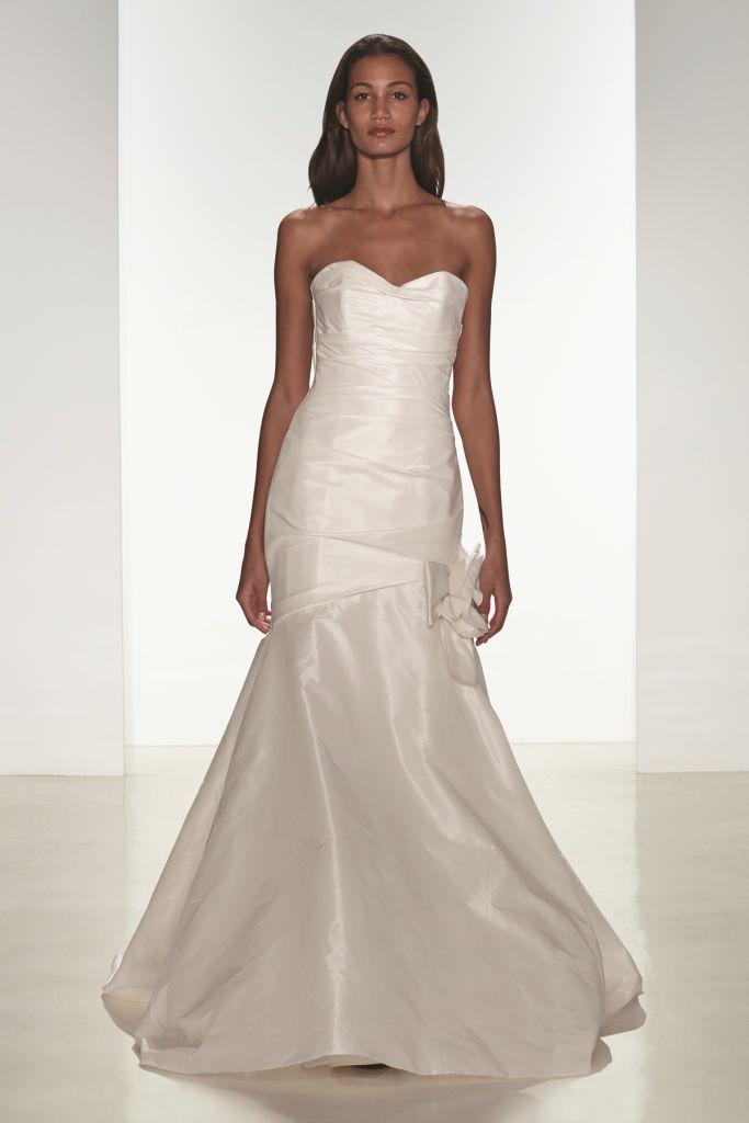 Emme Strapless fit to flare wedding dress