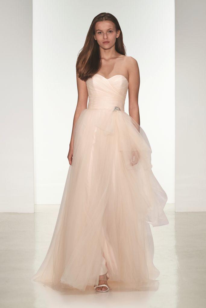 Blush wedding dress | Gwynn nouvelle Amsale