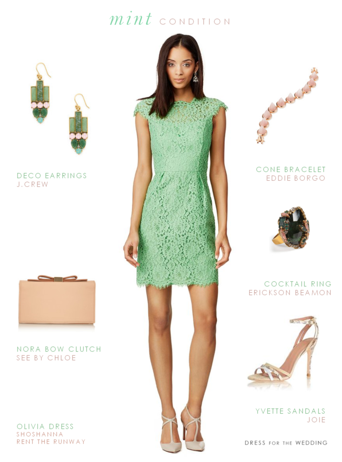 Mint lace dress for Dresses to wear at weddings as a guest