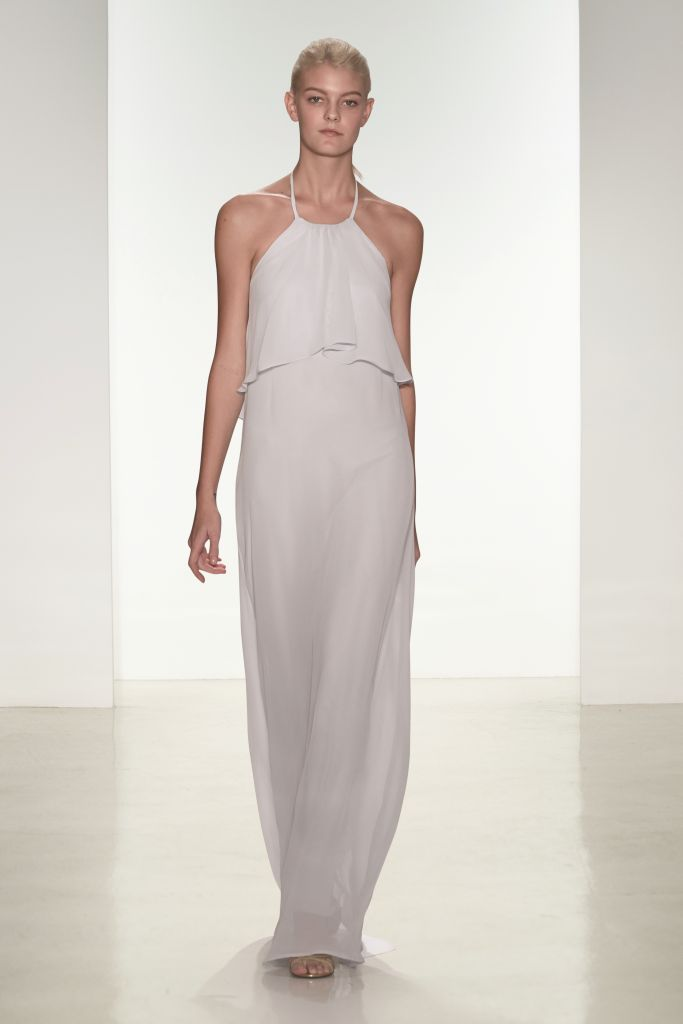 modern dove gray bridesmaid dresses