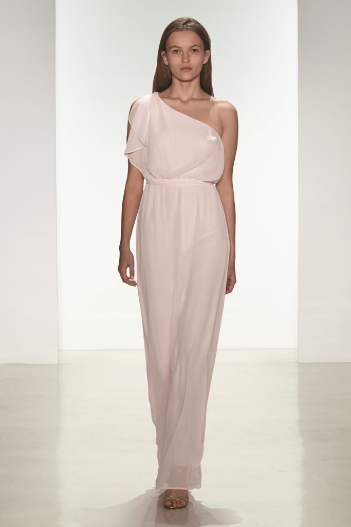 one shoulder bridesmaid dress long