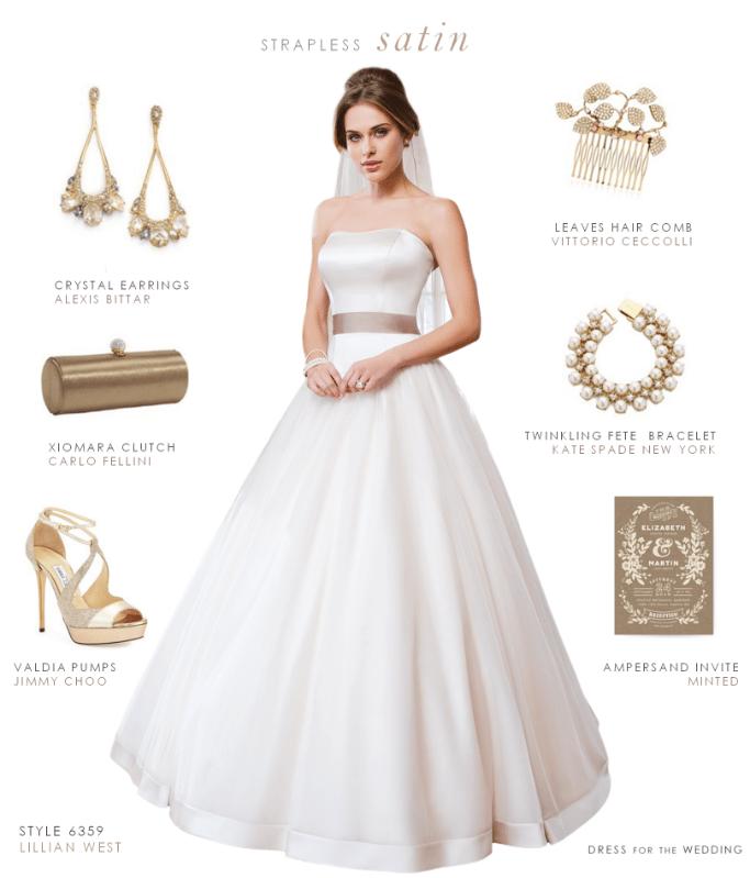 Strapless Satin Wedding Dress with Sweetheart Neckline