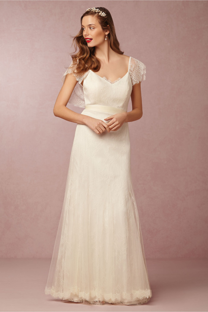 Tallis Flutter Sleeve Wedding Gown from BHLDN