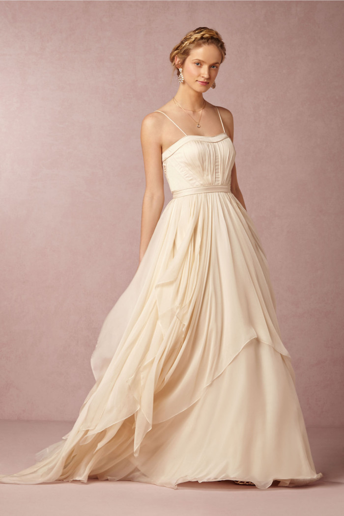 New wedding dresses for 2015 from bhldn for Beautiful fitted wedding dresses