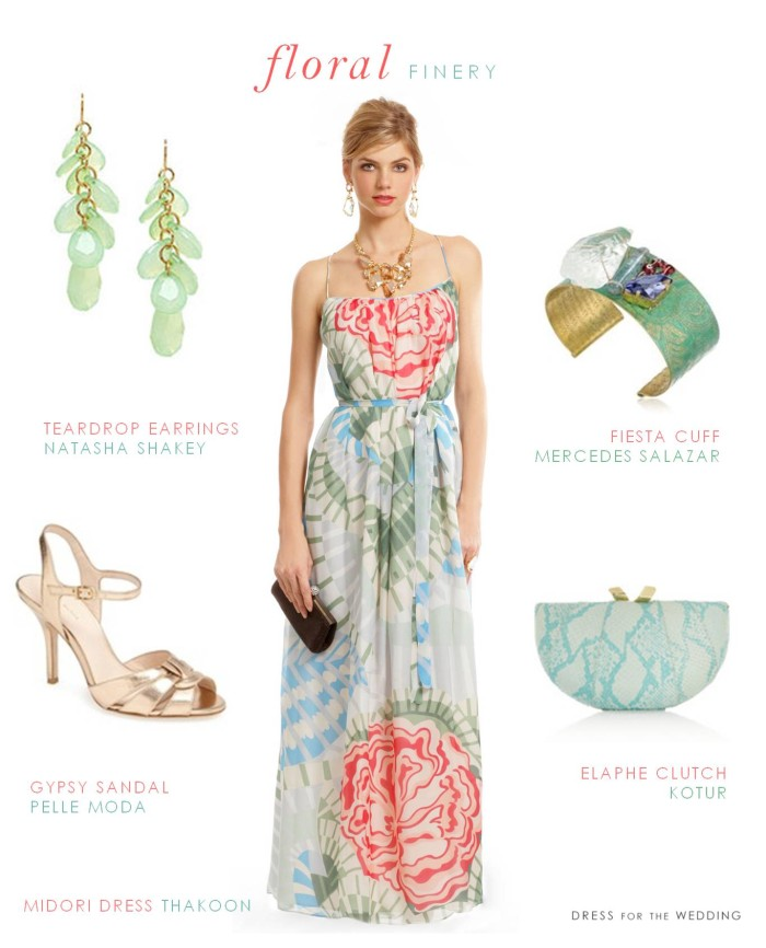 floral maxi dress wedding guest outfit