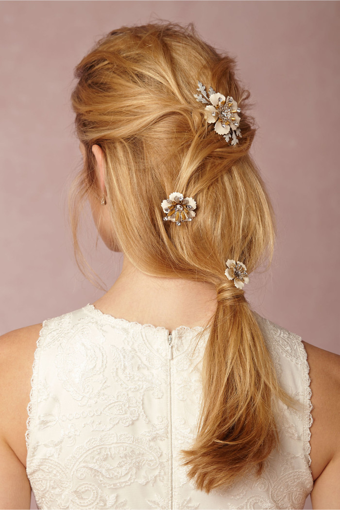 flower hair pins for the bride