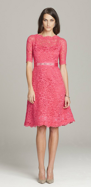 Short pink dresses for the mother of the bride