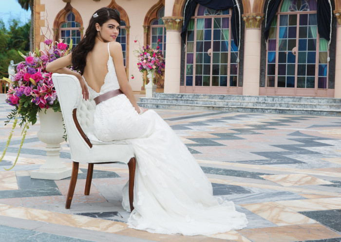 Simple Lace Wedding Dress With Straps