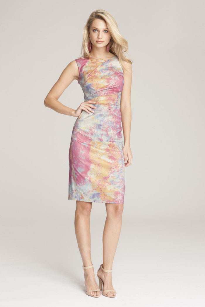 Pastel sheath dress