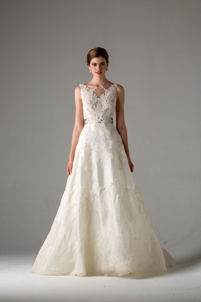 Wedding dresses from anne barge fall 2015 for Dresses for a fall wedding