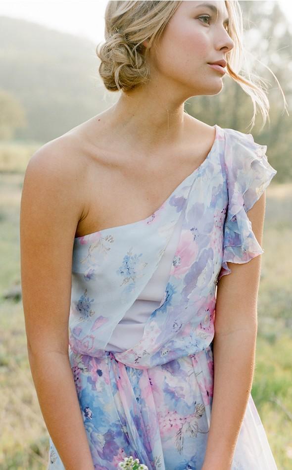 Plum Pretty Sugar Floral Bridesmaid Dresses Billy
