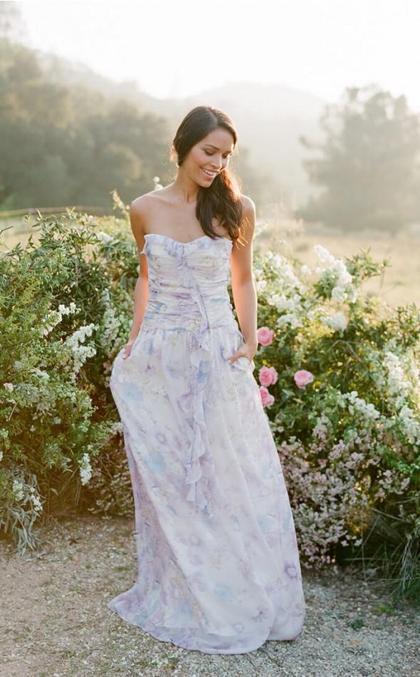 Ryan Plum Pretty Sugar floral Bridesmaid Dresses