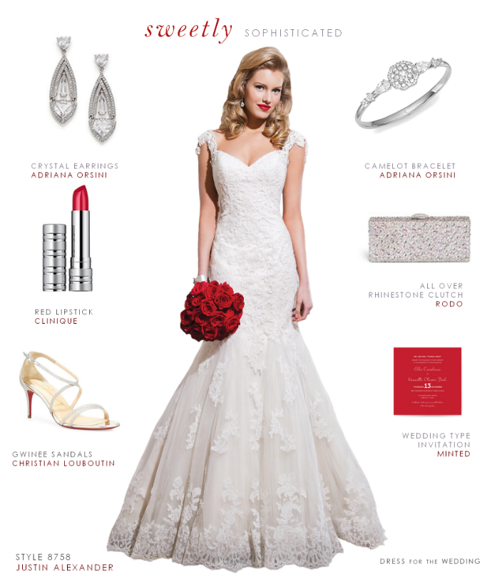 Sophisticated lace wedding dress