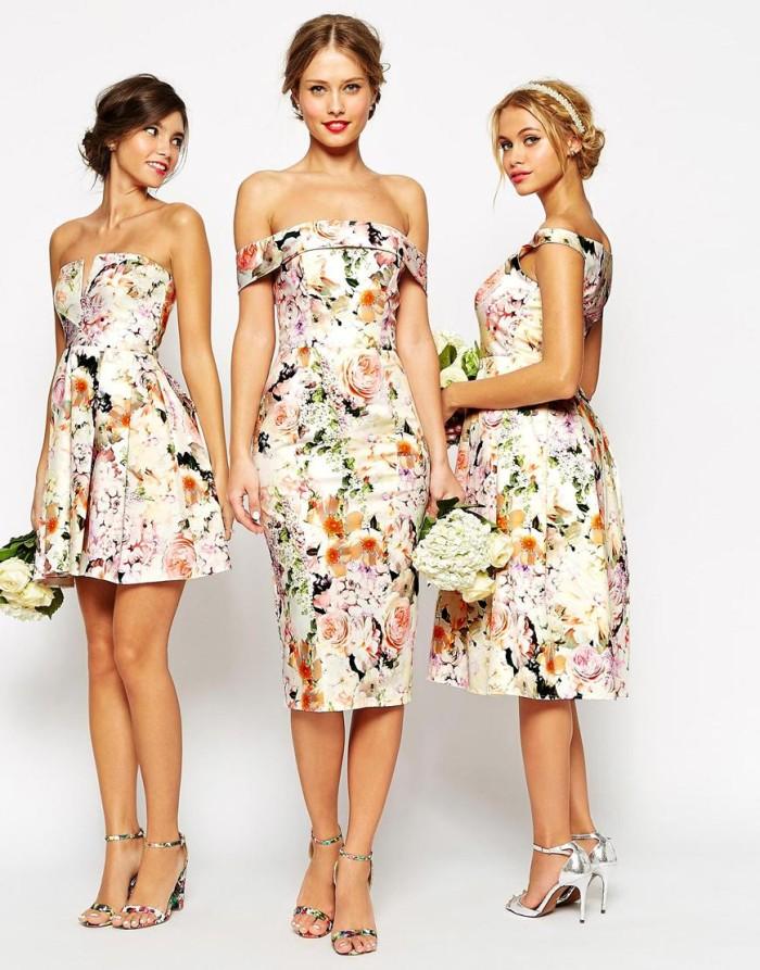 ASOS Weddings Floral Bridesmaid Dresses :1. Notch Bandeau Dress 2 ...