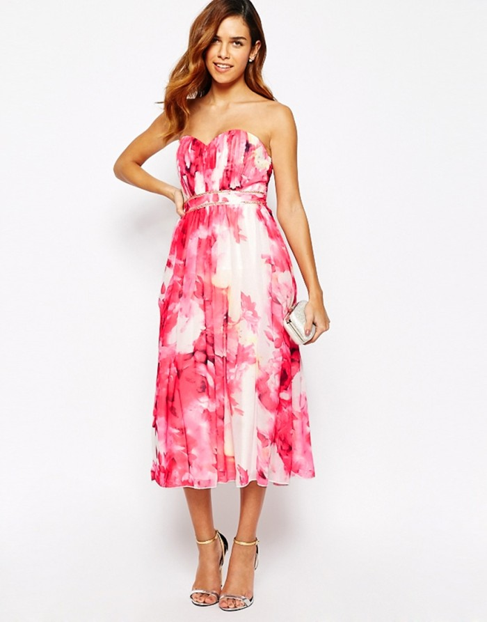 hot pink floral dress from ASOS bridesmaid