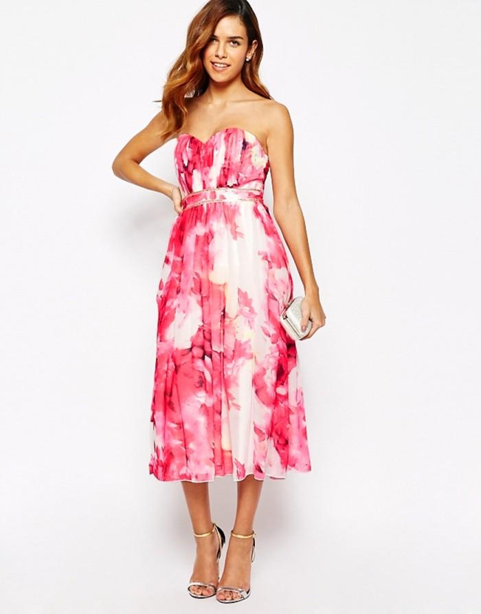 hot pink floral dress from ASOS bridesmaid