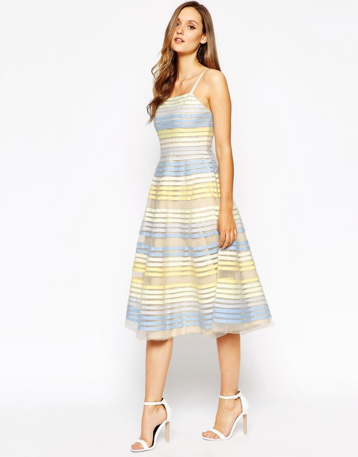 Striped dress for a bridal shower