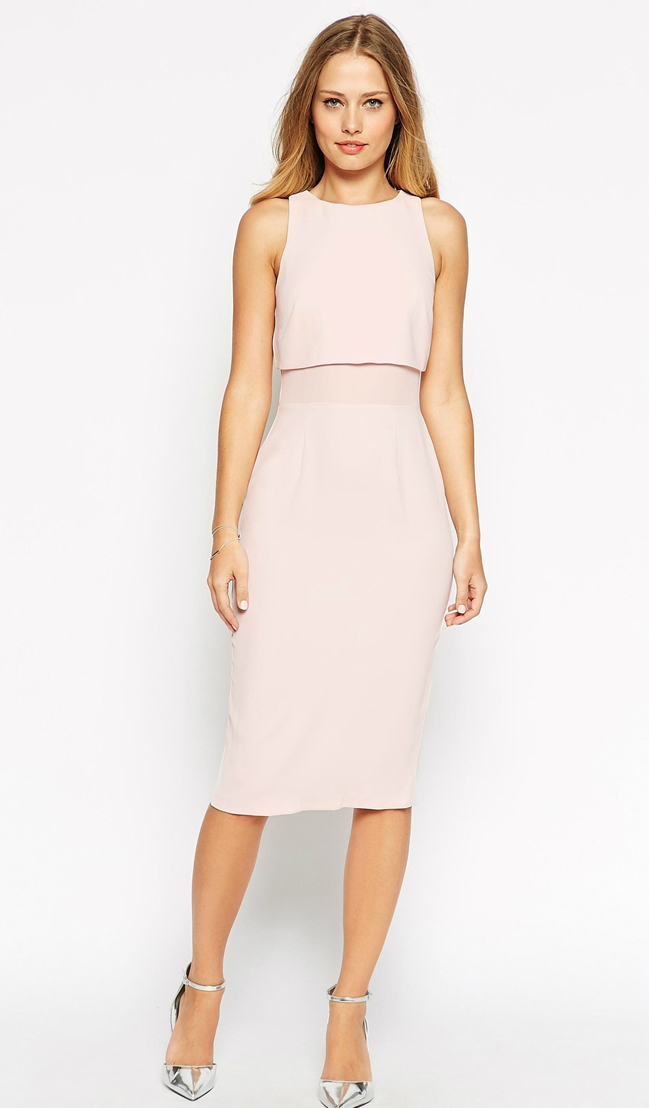 Pink crop dress from ASOS