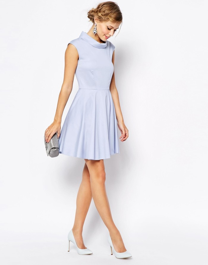 Pretty blue dress with pockets