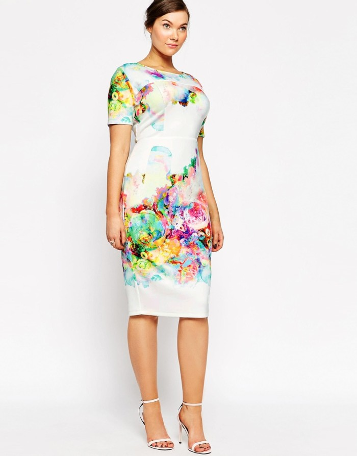 Watercolor print dress for bridal shower from ASOS