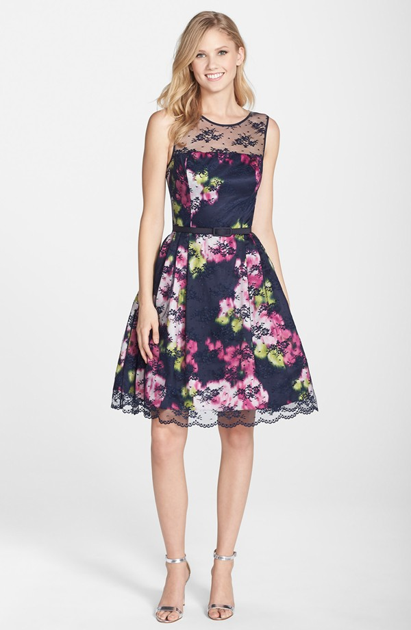 What to wear to a may wedding for Floral wedding guest dresses