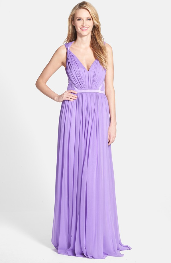 Lavender formal gown
