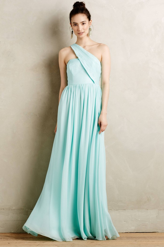 Mint maxi gown from Anthropologie