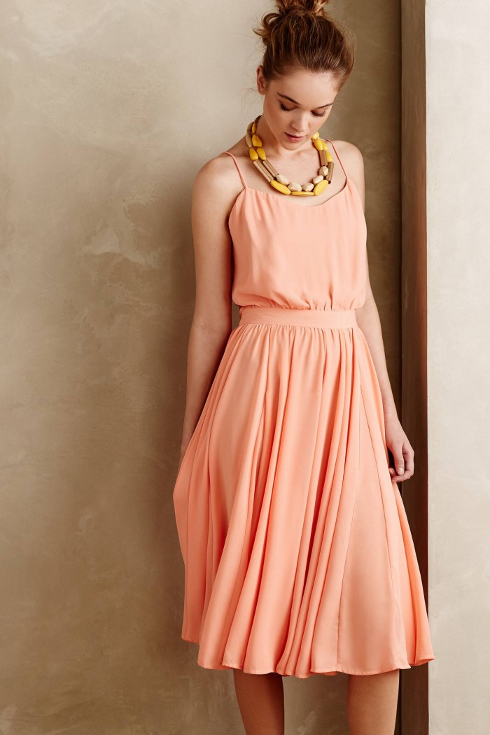 Soft peach sundress
