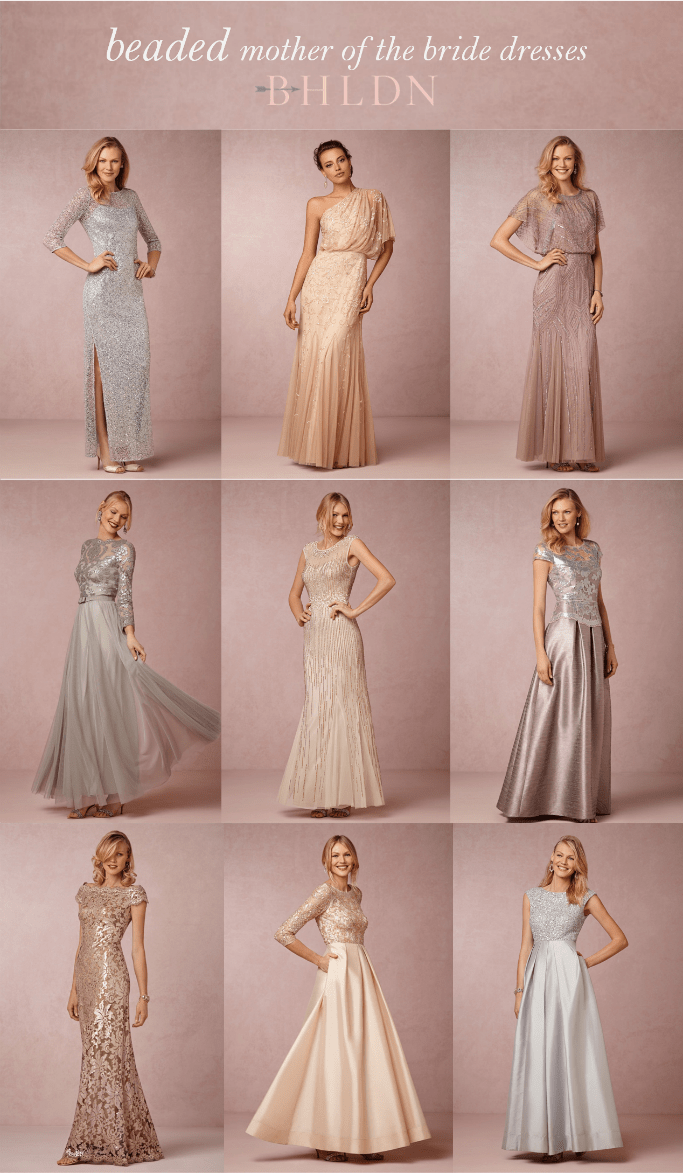 Beaded mother of the bride dresses at BHLDN