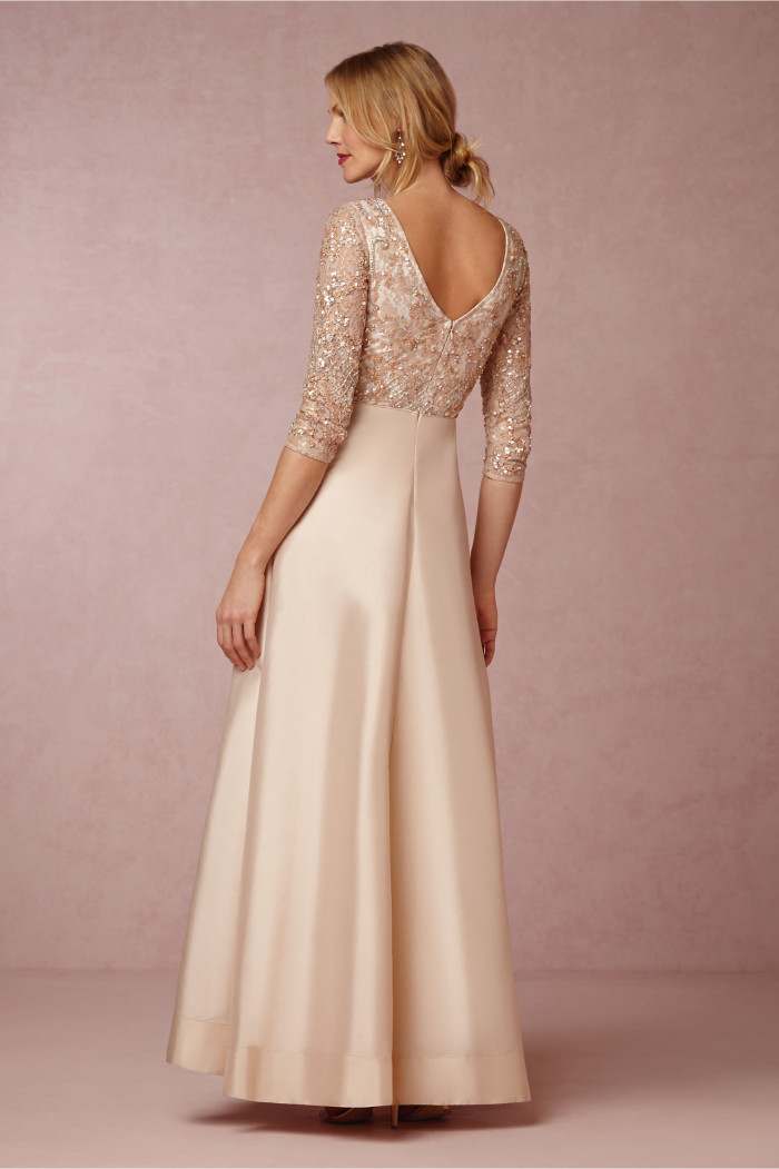 Blush beaded MOB dress Viola BHLDN