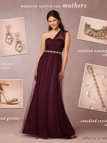 Burgundy MOB Dress