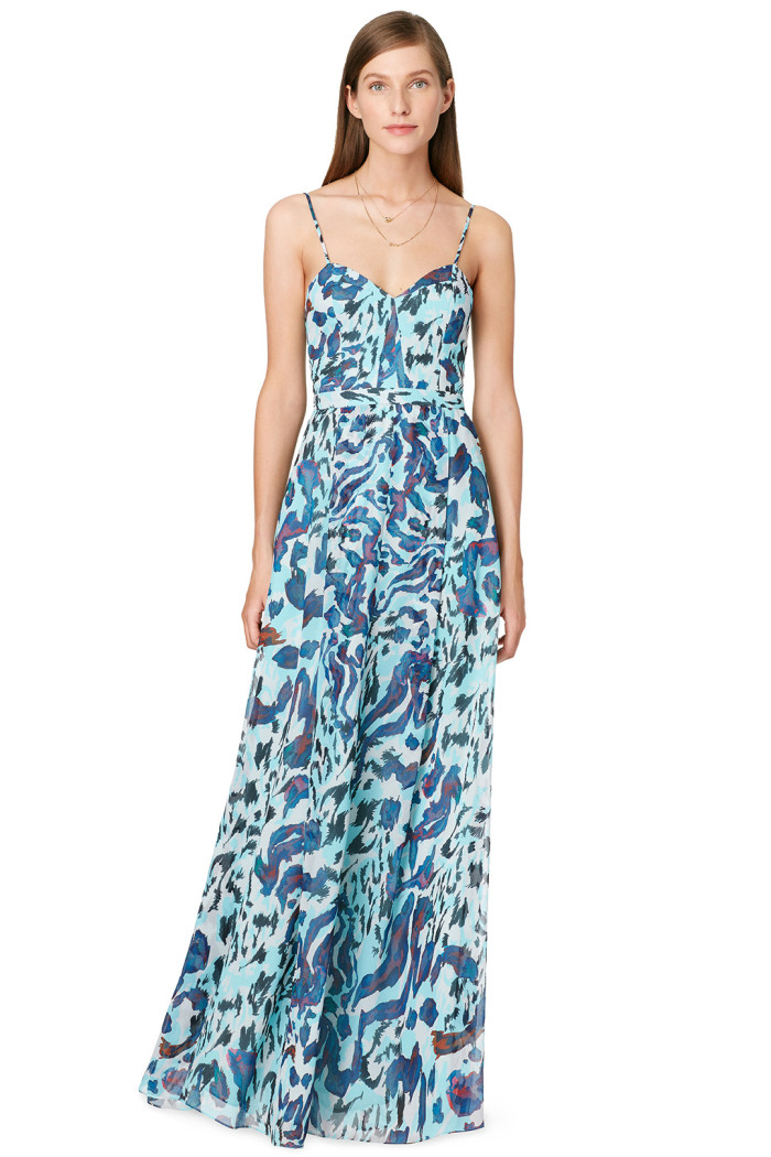 Maxi dress for a beach wedding in May