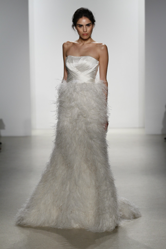 Kelly Faetanini Feather wedding dress with top