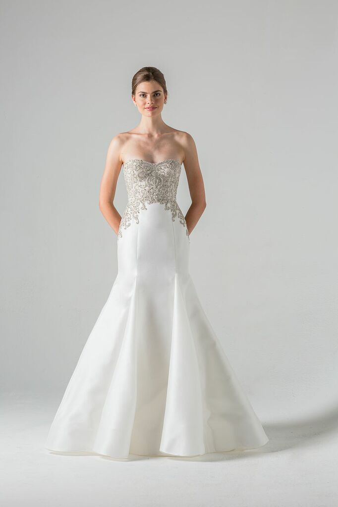 Embellished wedding gown Lourdes by Anne Barge