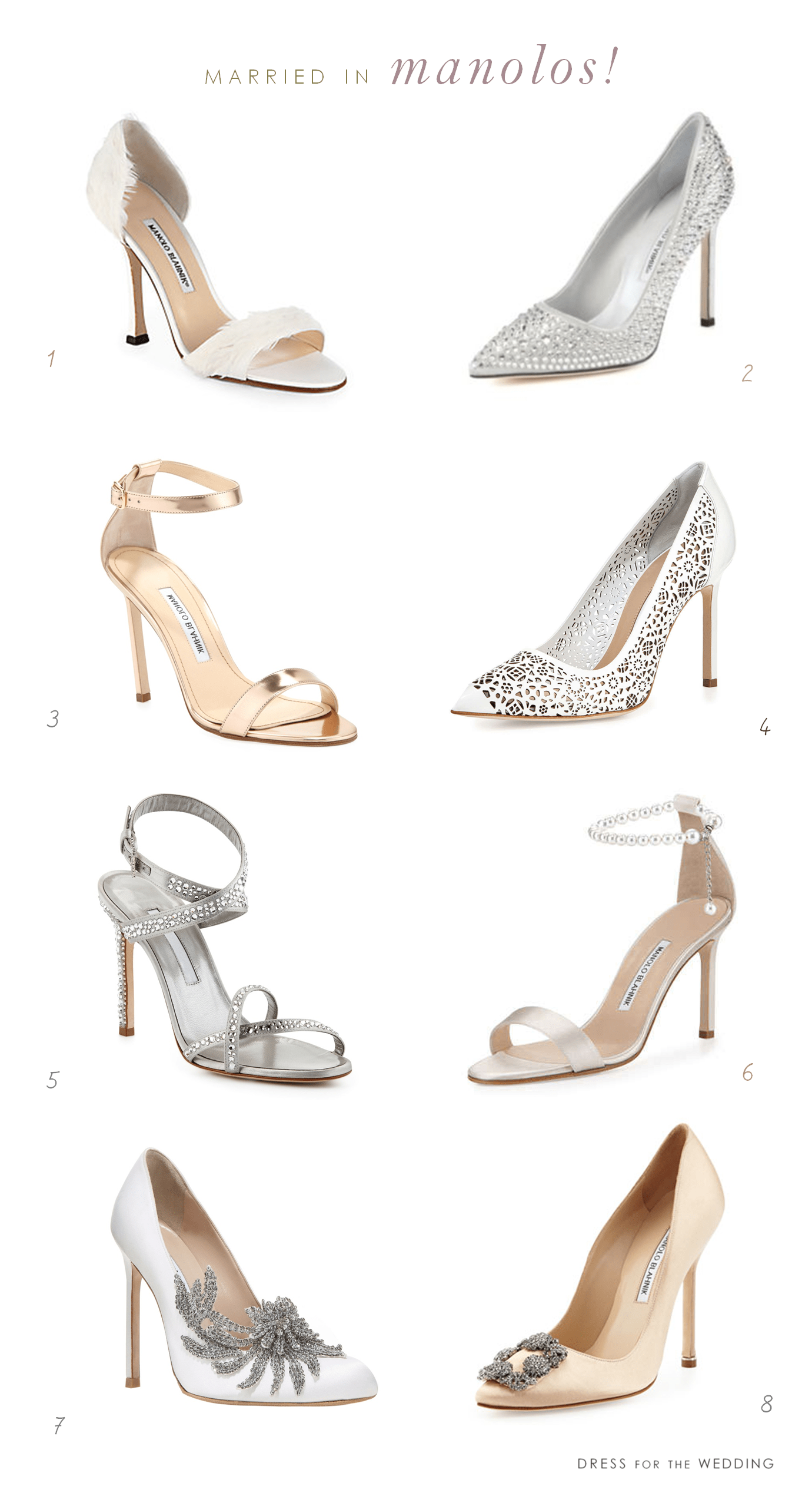 Wedding Shoes By Manolo Blahnik