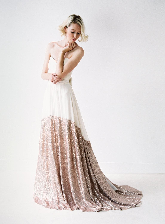 Sequin hem wedding dress Truvelle
