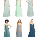 Soft blue bridesmaid dresses