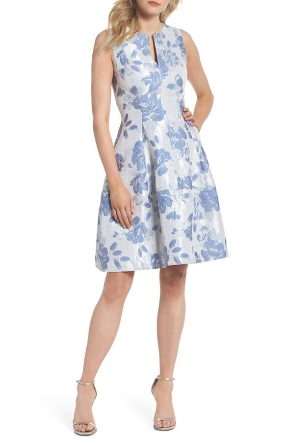 blue floral dress for may wedding guest